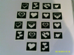 Heart themed stencils for etching on glass  hobby craft glassware  Valentine's Day